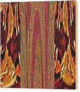 Chinese Folk Ethnic Opera Drapes Decoration Dancing Golden Abstract Signature   Art  Navinjoshi Arti Wood Print