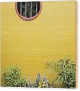 Chinese Temple Garden Detail In Vietnam Wood Print