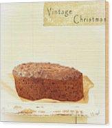 Christmas Cake Wood Print