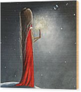Christmas Candle By Shawna Erback Wood Print by Shawna Erback
