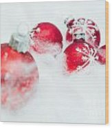 Christmas Decorations Wood Print