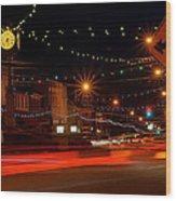 Christmas In Columbiana Ohio Wood Print