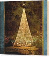 Christmas Tree In The City Wood Print