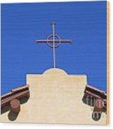 Church Cross Wood Print
