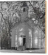 Church In The Cove Wood Print