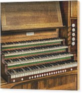 Church Organ Wood Print