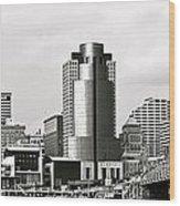 Cincinnati Black And White Panorama Wood Print