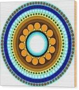 Circle Motif 214 Wood Print