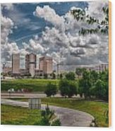 City Streets Of Charlotte North Carolina Wood Print