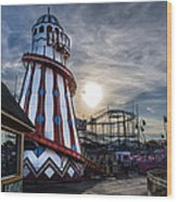 Clacton Pier Wood Print by Andrew Lalchan