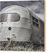 Classic Airstream Caravan Wood Print