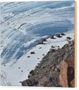 Cliffs And Sea Ice Wood Print