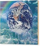 Climate Change- Wood Print