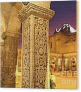 Cloisters At Sunset Arequipa Wood Print