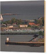 Coastal Life In Maine Wood Print