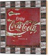 Coca Cola Signs Wood Print