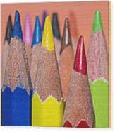 Color Pencil Wood Print