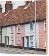 Colorful Houses Wood Print