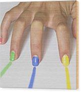 Colorful Nails Wood Print