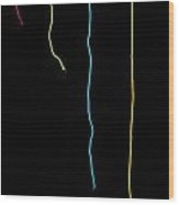 Colorful String Wood Print