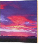 Colourful Arizona Sunset Wood Print
