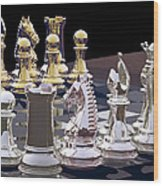 Competition - Chess Wood Print