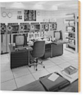 Computer Room, 1999 Wood Print