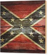 Confederate Flag 1 Wood Print