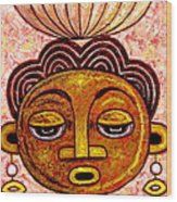 Congalese Face 2 Wood Print