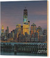 Construction Of The Freedom Tower Wood Print
