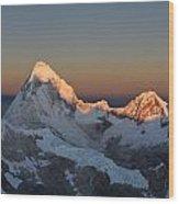 Cordillera Blanca Wood Print