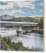 Cornish-windsor Covered Bridge IIi Wood Print