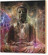 Cosmic Buddha Wood Print