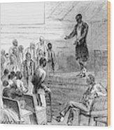 Cotton Plantation, 1867 Wood Print