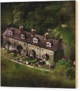 Country House In Bakewell Town Peak District - England Wood Print