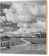 Country Living Bw Wood Print