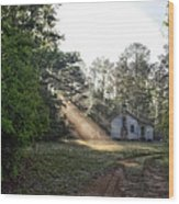 Crepuscular Rays In Alabama Wood Print