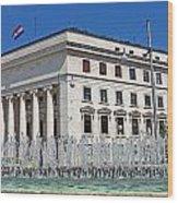 Croatian National Bank Zagreb Wood Print by Borislav Marinic