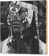Crow Native American Traditional Dress Rodeo Gallup New Mexico 1969 Wood Print