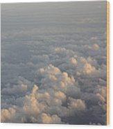 Cumulus Clouds At Sunset Wood Print