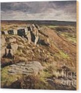 Curbar Edge Wood Print