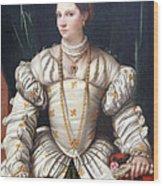 Da Brescia's Portrait Of A Lady In White Wood Print
