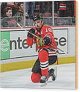 Dallas Stars V Chicago Blackhawks Wood Print