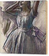 Dancer Stretching Wood Print