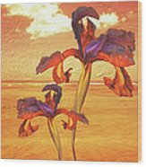 Dancing In The Sunset Wood Print