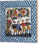 Dancing Men  Wood Print