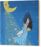 Dancing On Moonbeams Wood Print