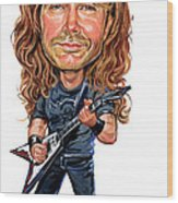 Dave Mustaine Wood Print