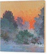 Dawn Mist Wood Print