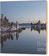 Dawn On Mono Lake Wood Print